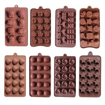 Силиконовая форма для шоколада формы для выпечки инструменты для выпечки круглых силиконовых кубиков льда конфеты Мармеладные помадка, ко...