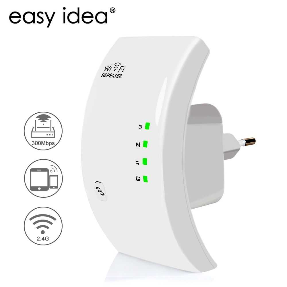 EASYIDEA Wireless WIFI Repeater 300Mbps Wifi <font><b>Extender</b></font> 2.4G Wi Fi Amplifier Wi-Fi Reapeter 802.11n Access Point Signal Booster