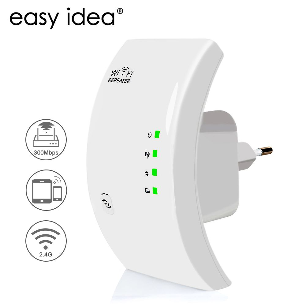 EASYIDEA Wireless WIFI Repeater 300Mbps <font><b>Network</b></font> Antenna Wifi Extender Signal Amplifier 802.11n/b/g Signal Booster Repetidor Wifi