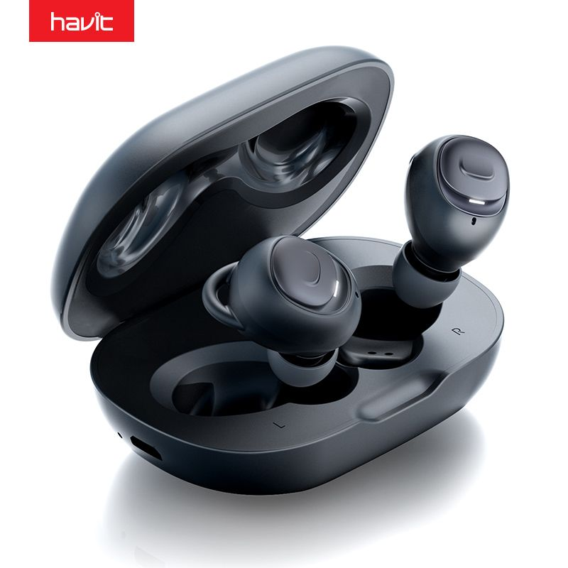 HAVIT I96 TWS Bluetooth Earphones V5.0 HD Stereo Wireless Microphone IPX5 Noise Cancelling Gaming Headset Paired Separately