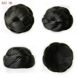 9 CM Wanita Chignons Sintetis Simpul Bob Wanita Buns Chignons Bun Sopak Tahan Panas Hairpieces A23