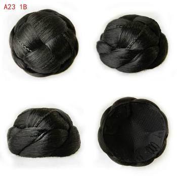9CM Women Chignons Synthetic Bun Hairpiece Heat Resistant Knot Bob Lady Chignons Buns Hairpieces A23