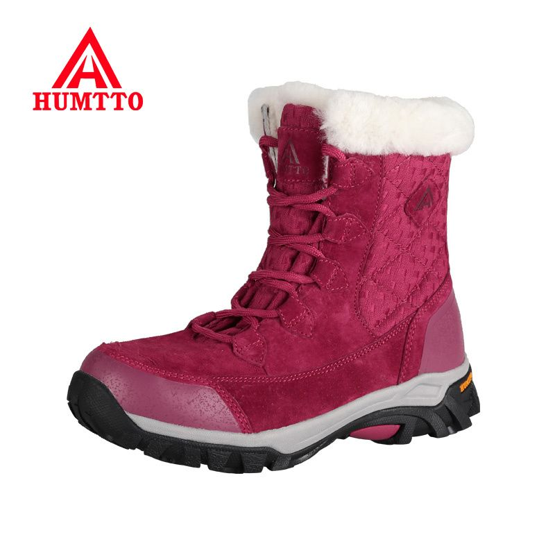 Brand Hot sale Winter Warm Hiking Shoes Women Genuine Leather Outdoor Sneakers Climbing Boots Breathable Sport Hunting Mountain