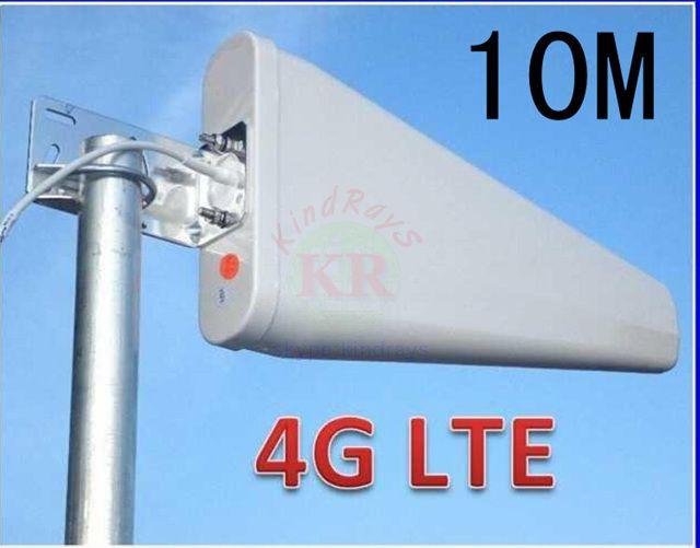100% 11dbi 10 m sma 3g 4G antenne 800-960/1710-2500 Mhz 4g 3g extérieur LDP panneau antenne WCDMA 4g booster pour antenne huawei 4g