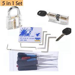 Utility und Günstige Schlosser Set, Lock Praxis Werkzeuge, Transparent Lock 5 stücke Spannung Schlüssel, 10 stücke Gebrochen Key Extractor