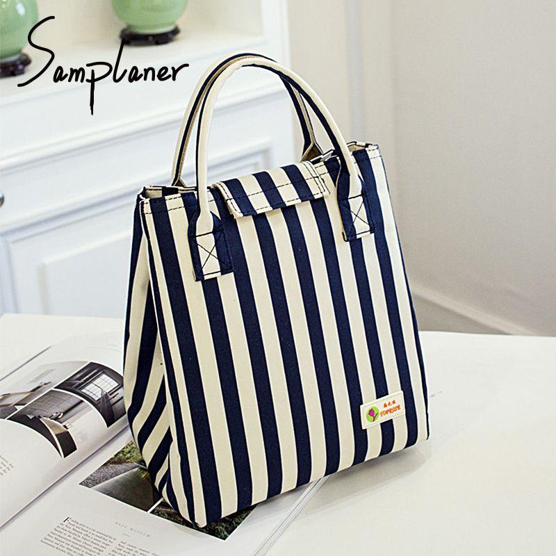 Samplaner Oxford Luxury Lunch Bag For Women Kids Men Cooler Lunch Box Bags Handbag Waterproof Thermal Food Fruit Bags Package