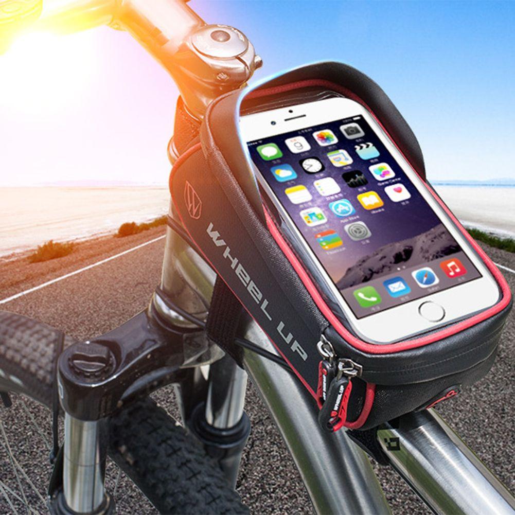 Sac De Vélo imperméable Panier Pannier Cadre Tube Guidon Sac High Sensitive Écran Tactile Double Zipper Vélo Sacs