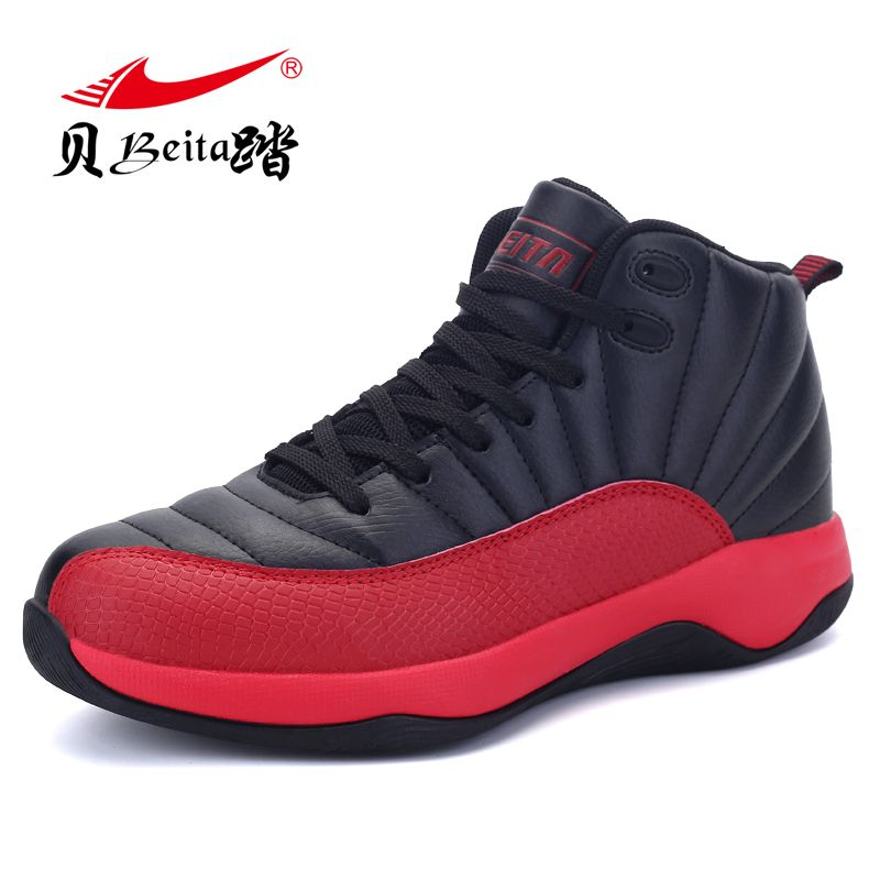 Beita Summer Air Mesh High Top Basketball Shoes New 2017 Men's Breathable Surface Damping Sneakers Combat Boots Basketball Shoes