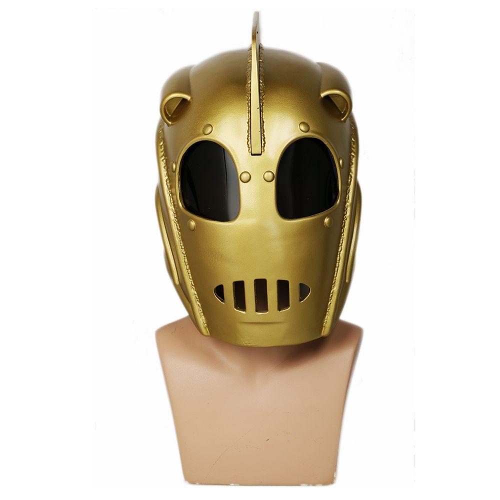 Coslive The Rocketeer Cliff Secord Helmet Deluxe Resin Full Head Mask COSplay Halloween Props