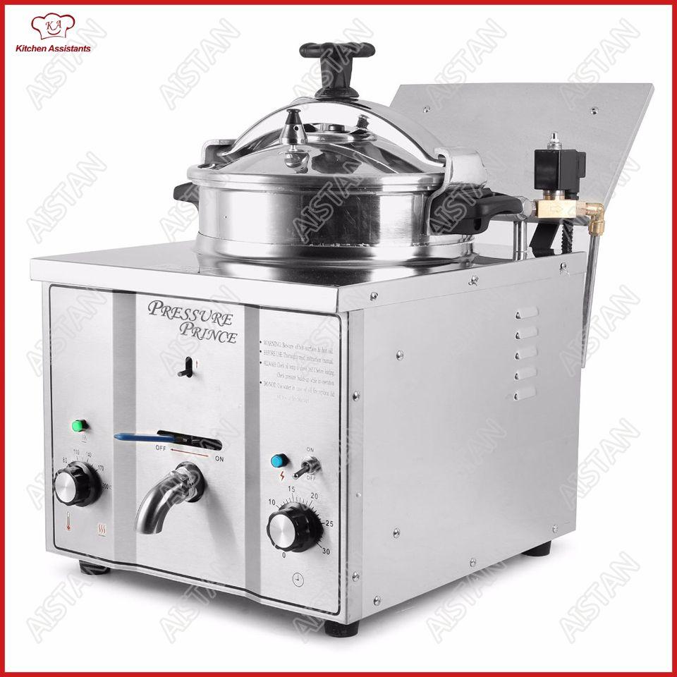 MDXZ16 mini counter top electric pressure fryer chicken potato oil deep fryer for KFC commercial kitchen restaurant