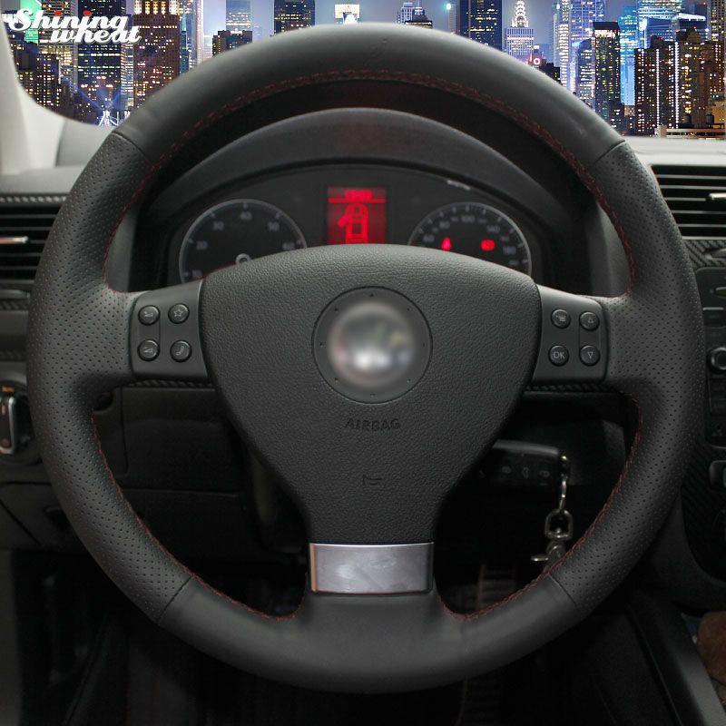 Shining wheat Car Steering Wheel Cover for Volkswagen Golf 5 Mk5 Sagitar Magotan VW Passat B6 Jetta 5 Mk5 Tiguan 2007-2011