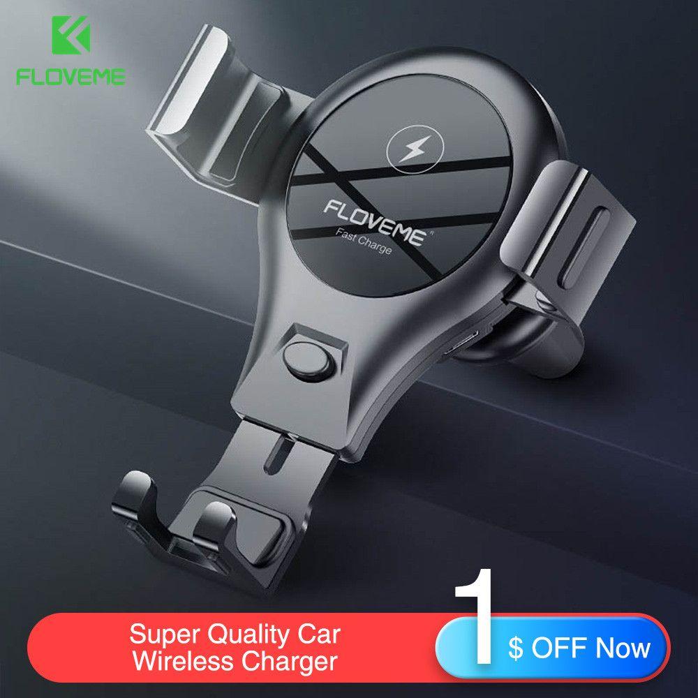 FLOVEME Sans Fil chargeur pour samsung S10 Plus S10 Lite S10 10 W Qi voiture sans fil Rapide chargeur pour iphone XS Max XR XS X De Charge