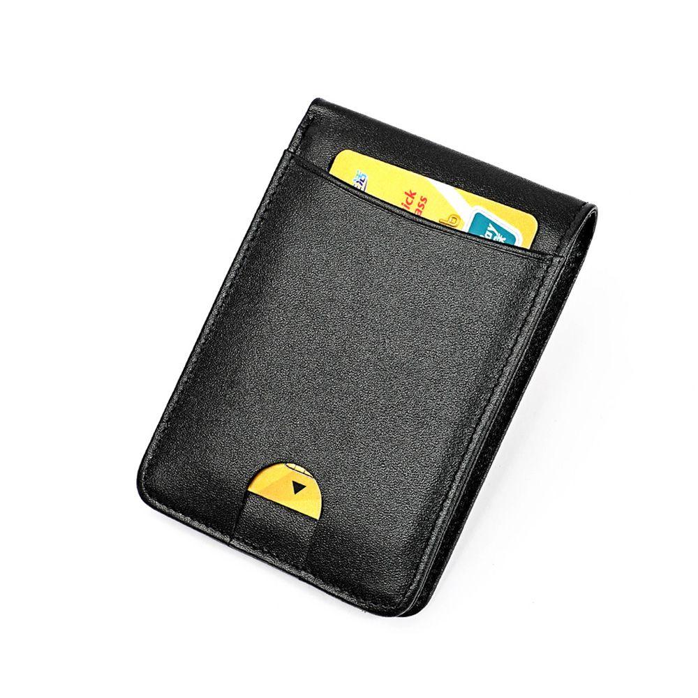 Porte-carte de crédit en cuir véritable support de carte Rfid portefeuille Vintage en cuir de vache antivol Rfid bloquant le porte-monnaie