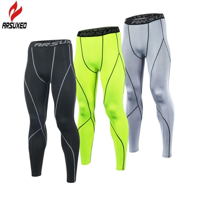 ARSUXEO 2019 collants de course hommes pantalons de Compression collants jambières d'exercices en cours d'exécution sport maigre gymnase mâle pantalon Fitness pantalon