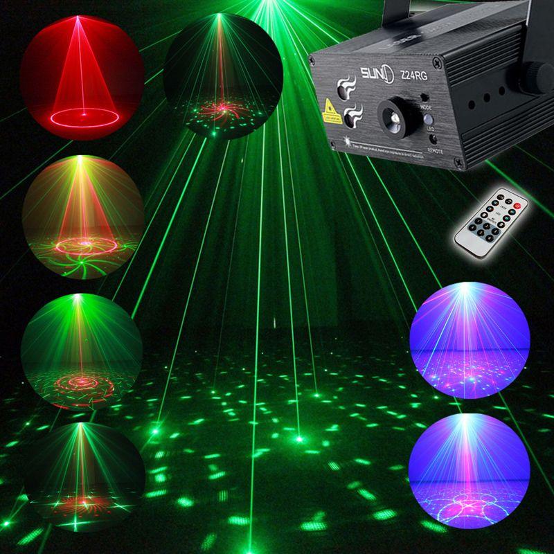 Vollfarbe RGB Laser Bühnenlicht Projektor 3 Watt Blaue LED Bühneneffektbeleuchtung für DJ Disco Party KTV Mit Fernbedienung Control