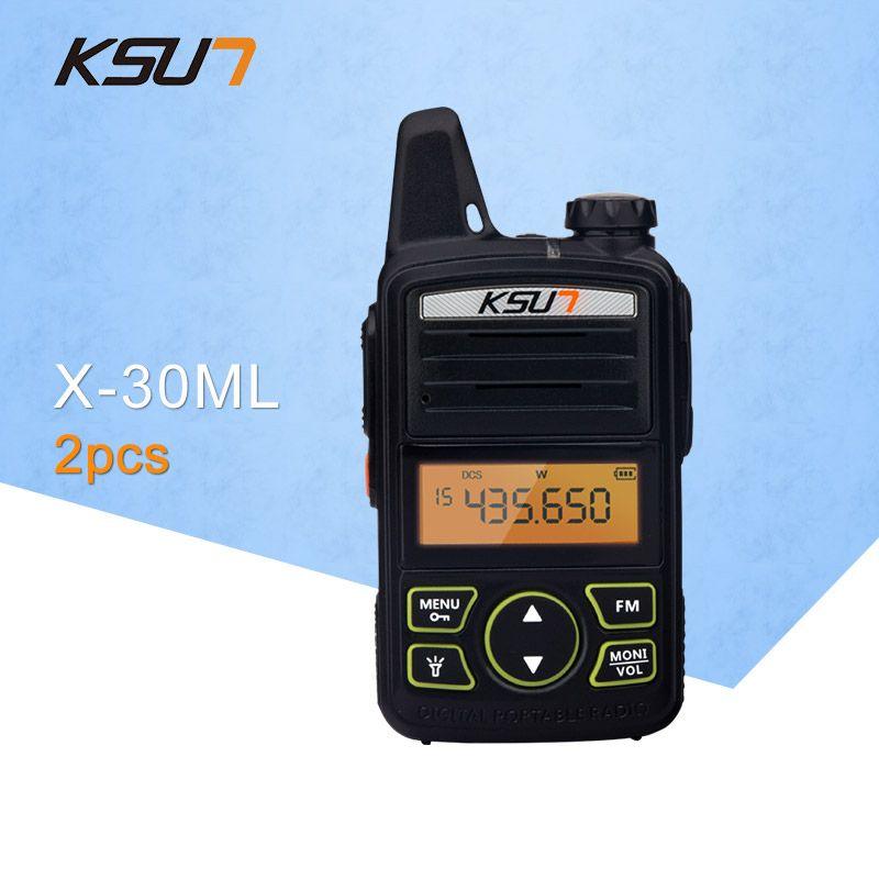 2PCS) Portable Radio Set KSUN X-30TFSI ML Walkie Talkie UHF Handheld Two Way Ham Radio Communicator HF Transceiver Amateur Handy