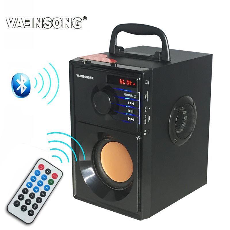 HiFi 2.1 stéréo en bois caisson de basses Bluetooth haut-parleur FM Radio haut-parleurs portables Mp3 jouer Super haut-parleur haut-parleur ordinateur colonne