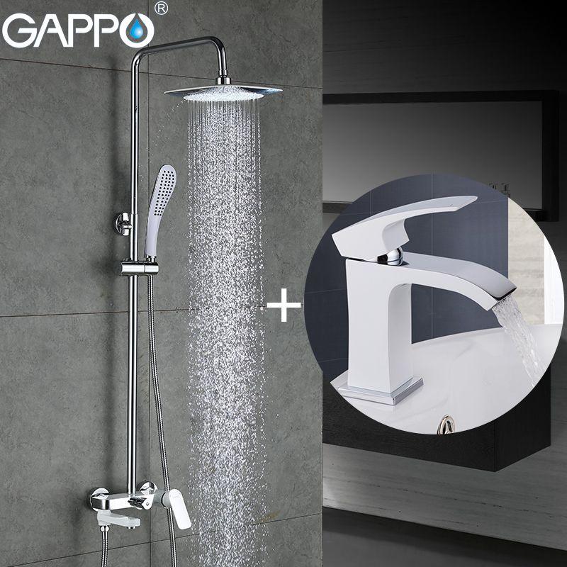 GAPPO white bathtub Faucets bath tub mixer basin faucet waterfall faucet basin sink faucet robinet baignoire