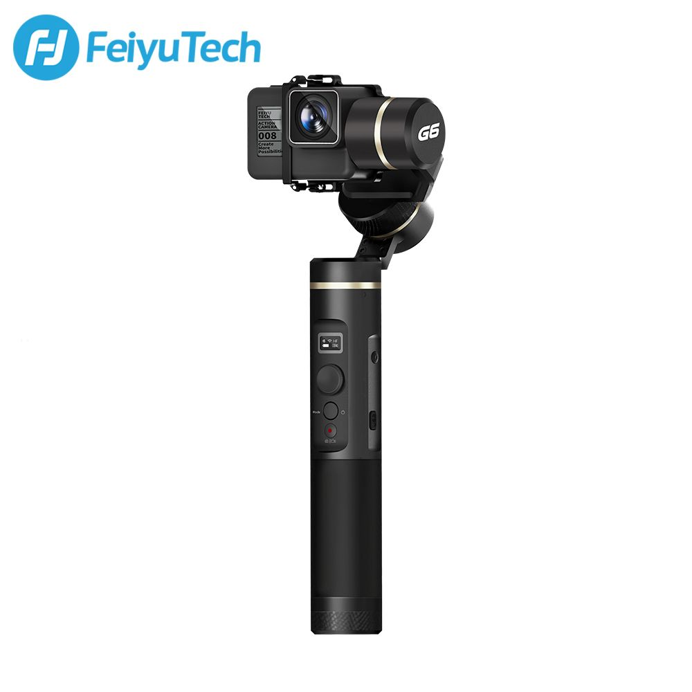 FeiyuTech G6 Splashproof Handheld Gimbal Action Camera Wifi + Blue Tooth OLED Screen Elevation Angle for Gopro Hero 6 5 Sony RX0