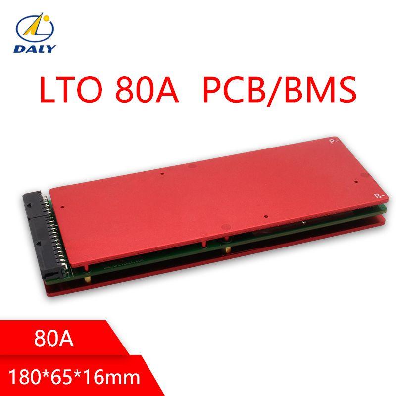 Daly Batterie LTO BMS 5 s/10 s/15 s/20 s/25 s/30 /35 s 80A 2,4 v Mit Balance Für 12 v/24 v/36 v/48 v /60 v/84 v Lithium-titanat-akku Packs