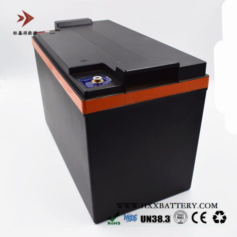 Customized 12,8 V 100AH Lifepo4 Batterie Eingebaute BMS Große Ampere 250A für Auto Batterie Golf Warenkorb Elektrische Schall Folklift