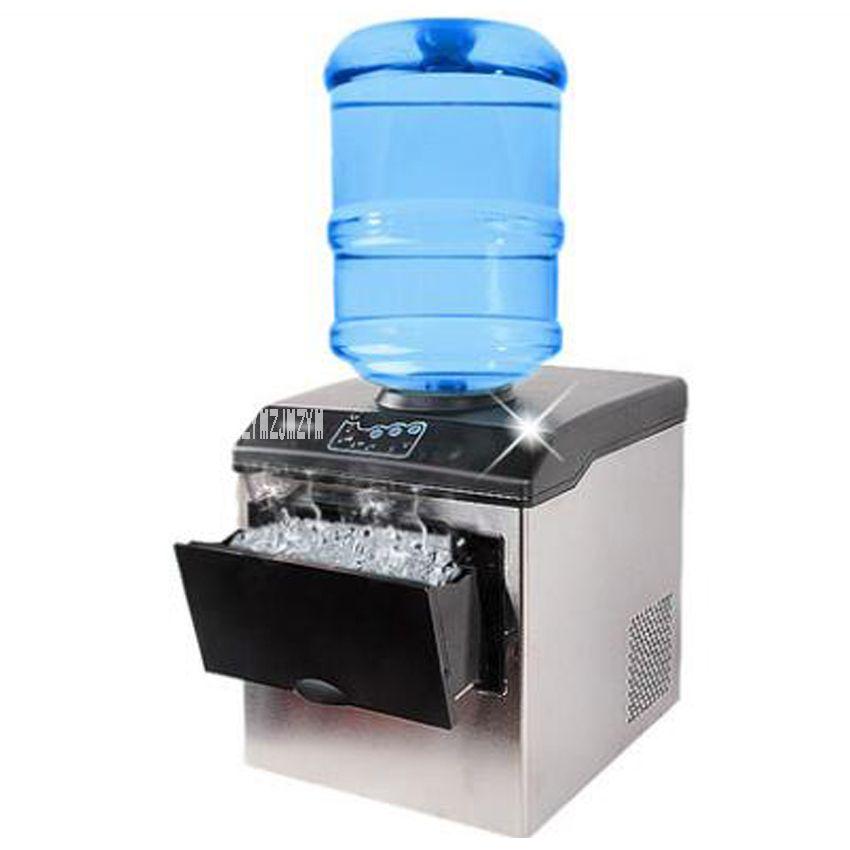Machine à glaçons de ménage électrique de petite Machine à glaçons automatique de Machine à glaçons de 25KG font la Machine pour l'usage à la maison, barre, café HZB25