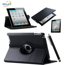 360 Rotating Stand Flip PU Leather Case For Apple iPad Mini 1 2 3 tablet Protective Cover For iPad Mini 123 7.9 inch shell+pen