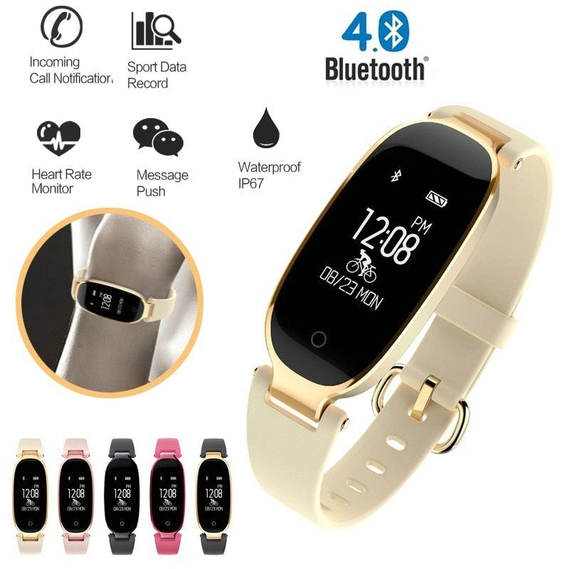 S4 Bluetooth Waterproof Lady Smart Watch Fashion Women Ladies Heart Rate Monitor Fitness Tracker S3 Smart watch for Android IOS