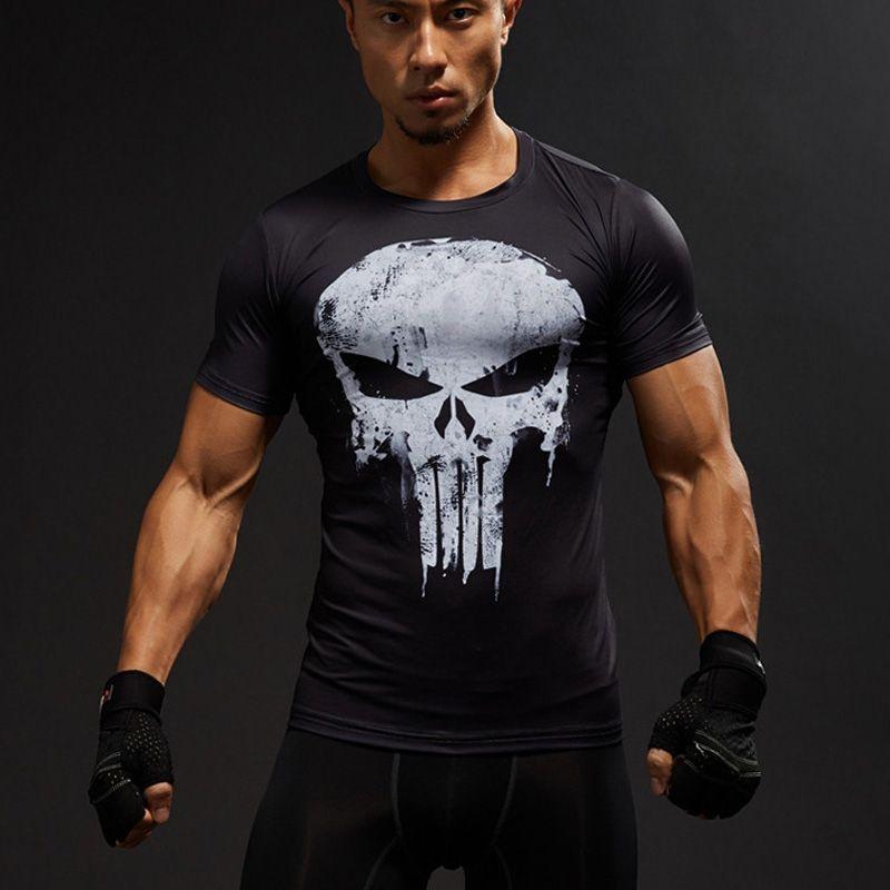 MMA manches courtes 3D T Shirt hommes T-Shirt homme t-shirts hauts punisseur drôle Superman T-Shirt Fitness Compression chemise T-Shirt 4XL