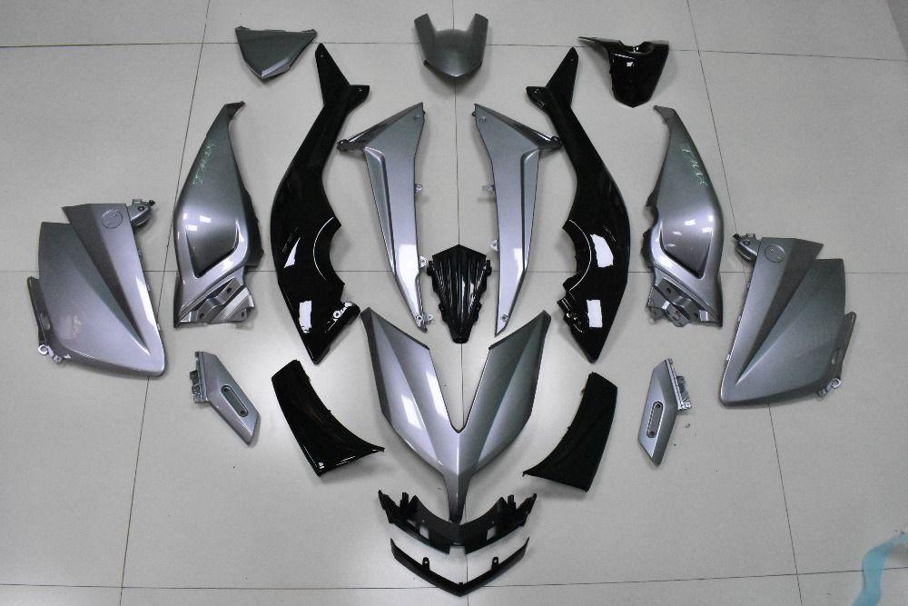 KODASKIN Tmax Grey Color 3D ABS Plastic Injection Fairing Kit Bodywork Bolts for Yamaha Tmax530 2015 2016