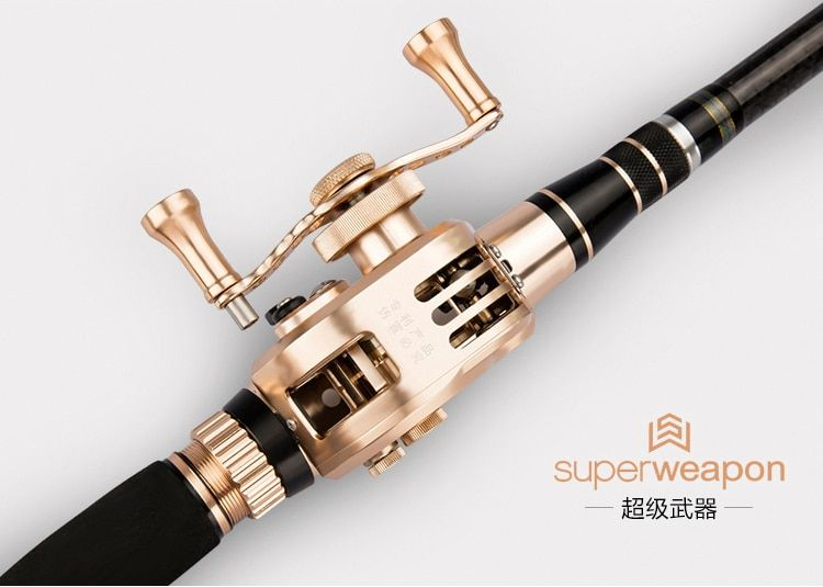 new Hollow Rod superweapon 46T high carbon rod 3.6 -7.2m through line rod with Aluminum fishing reel Fast closing line Ultimate