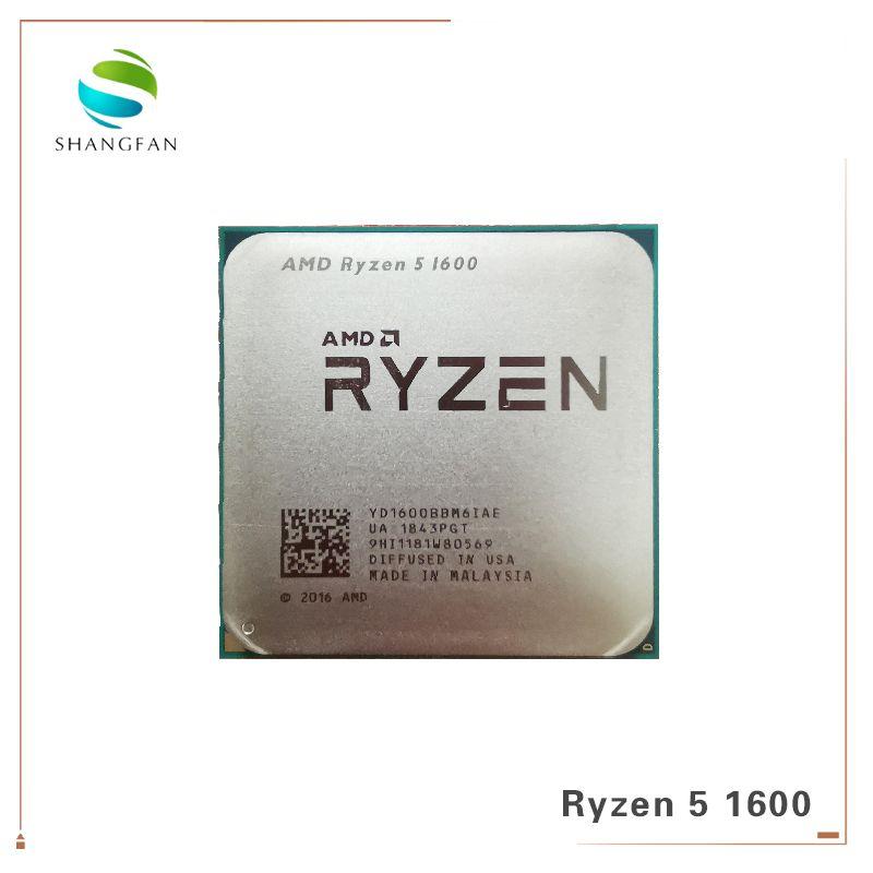 AMD Ryzen 5 1600 R5 1600 3.2 GHz Six-Core Twelve Thread 65W CPU Processor YD1600BBM6IAE Socket AM4