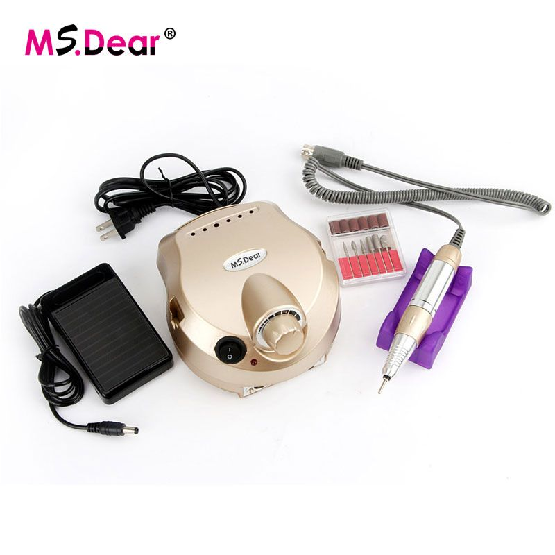 30000 RPM Gold Professional Electric Nail Art Drill File Pedicure Equipment Manicure Machine Kit Nail Art Tools For Nail Gel