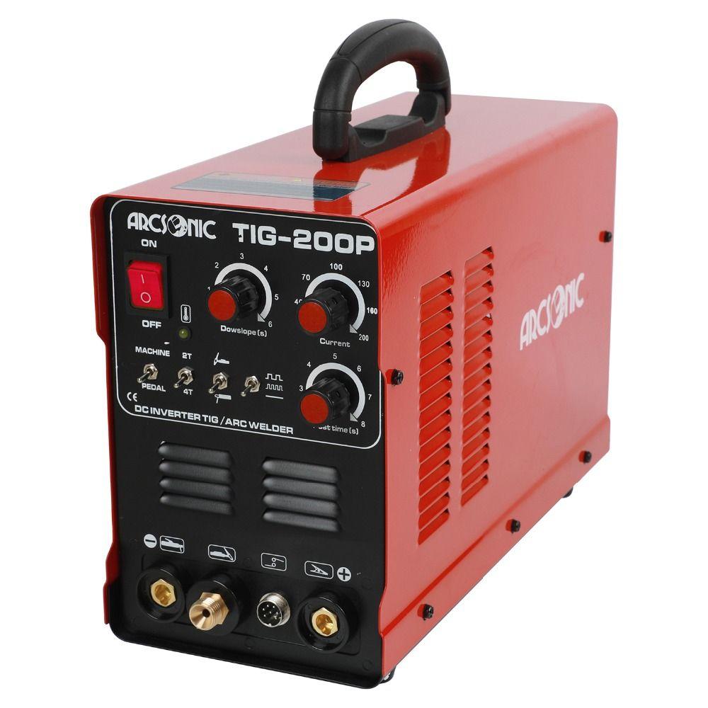 TIG200 Pluse 200 Amps ARC TIG Puls Wig-schweißen Maschine Multi Funktion TIG200P Tragbare Inverter TIG Schweißer Argon schweißen