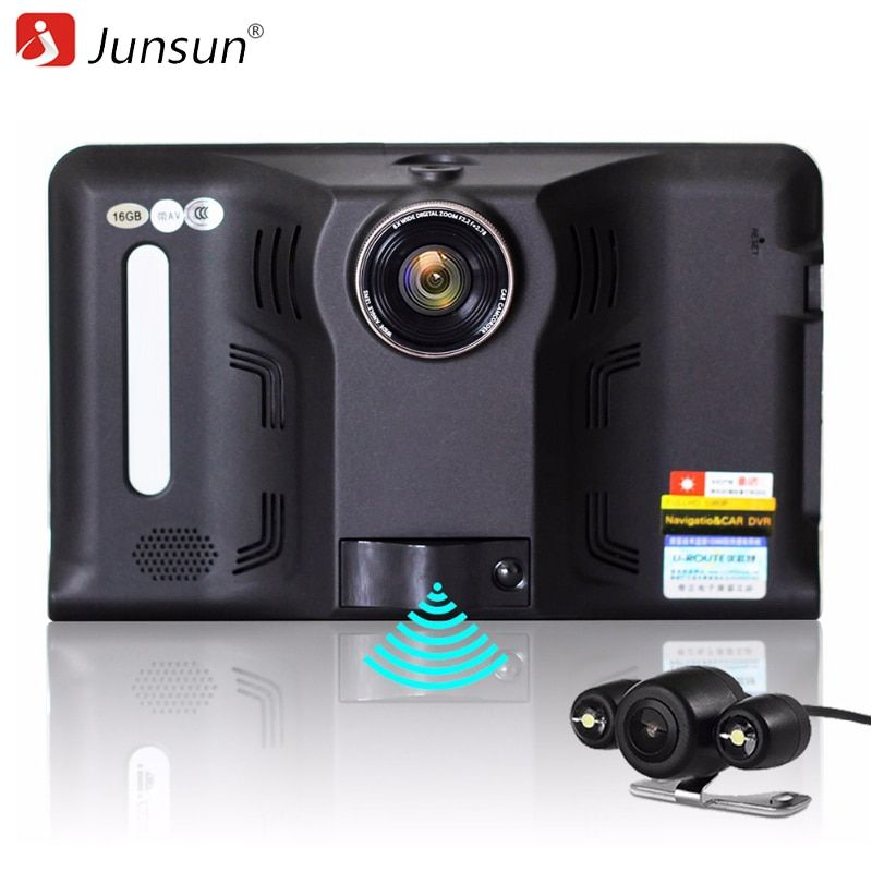 Junsun 7 inch Android Car GPS Navigation with Rear View Reversing Camera Car dvrs  Vehicle Gps WIFI AVIN Europe map