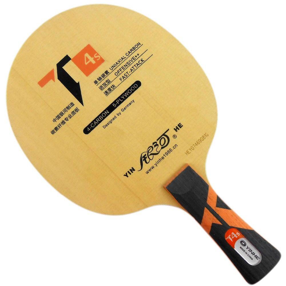Galaxy YINHE T4 (UNIAXIALE CARBONE, T-4 Mise À Niveau) Tennis De Table Lame pour PingPong Raquette