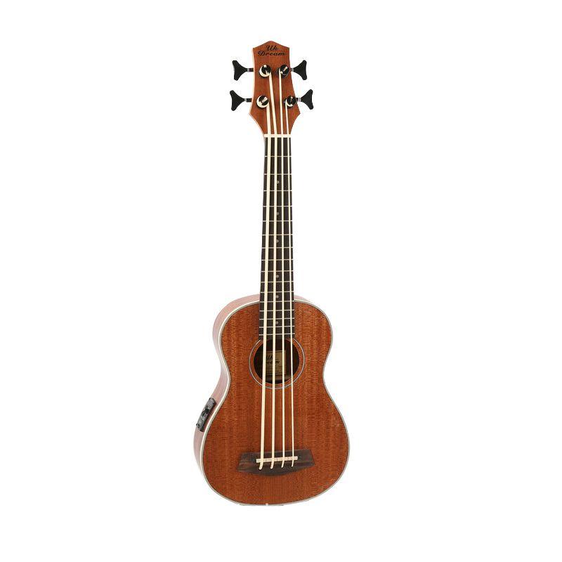 30 inch Mini Electrica Guitar Ukulele 4 strings Bass Musical Instruments Full Sapele Retro Closed Knob Guitarra Wholesale