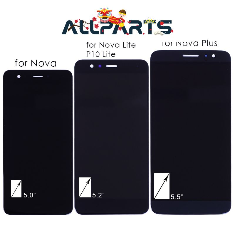 No Dead Pixel Real FHD LCD For HUAWEI Nova Display Nova <font><b>Lite</b></font> P10 <font><b>Lite</b></font> Display Nova Plus LCD Touch Screen Digitizer Replacement