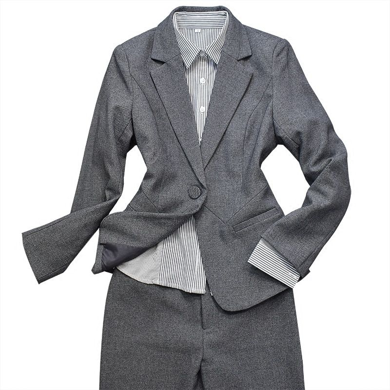 Suits, Women's Suits, 2018 Styles, Temperament, Fashion, Self-cultivation, Long Sleeves, Formal Dress, College Girl's Work Cloth