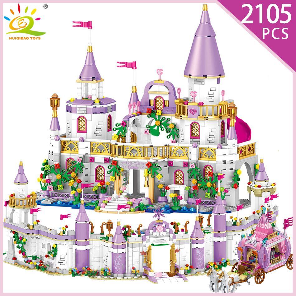 5 en 1 Princes Windsor château modèle de blocs de construction Compatible avec les figurines de chariot d'ami avec amour jouets éducatifs pour fille enfant