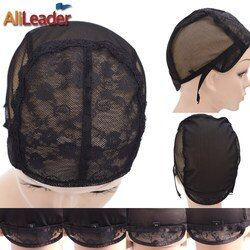 1 Pcs/Lot chapeau de Perruque pour la fabrication de perruques avec sangle réglable sur le dos tissage cap taille S/M/L/XL sans colle perruque caps