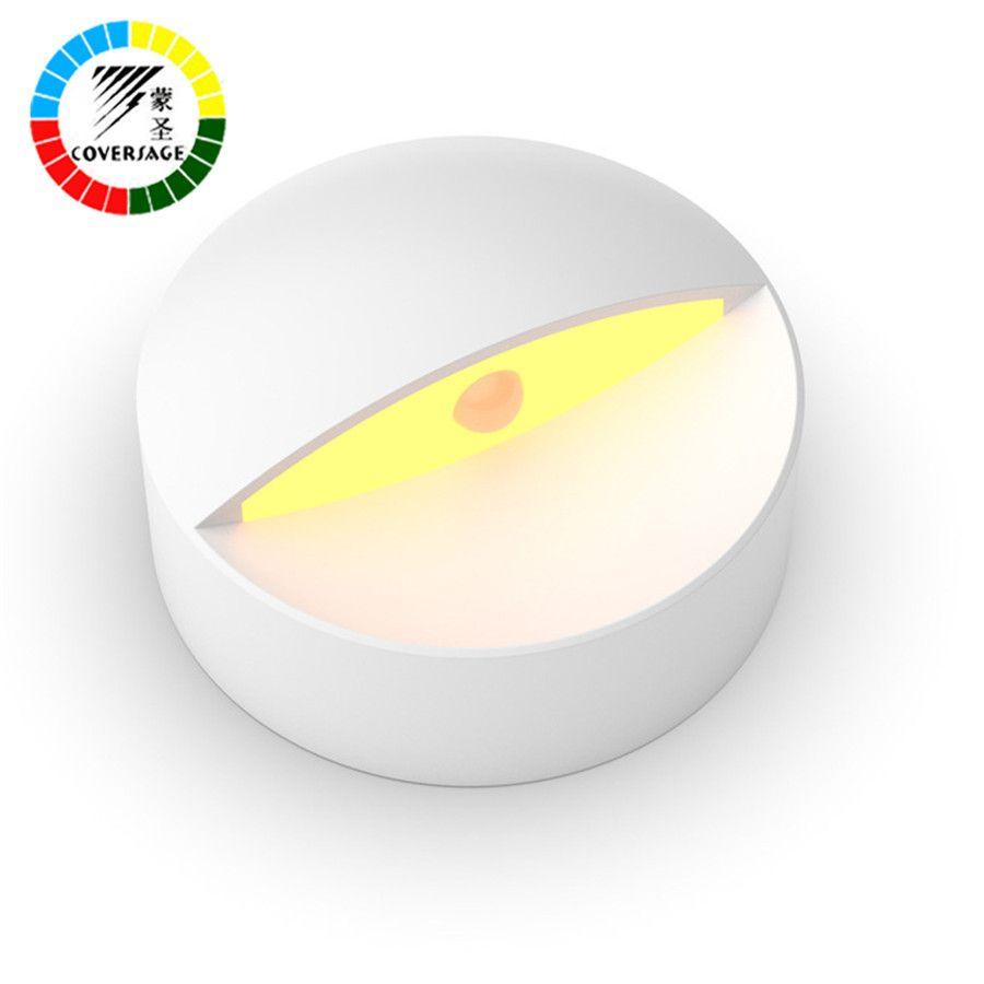 Coversage Smart Led Motion Sensor Night Light Emergency Wall Light for Baby Sleeping Home Bedroom Toilet Bathroom Kitchen Lights