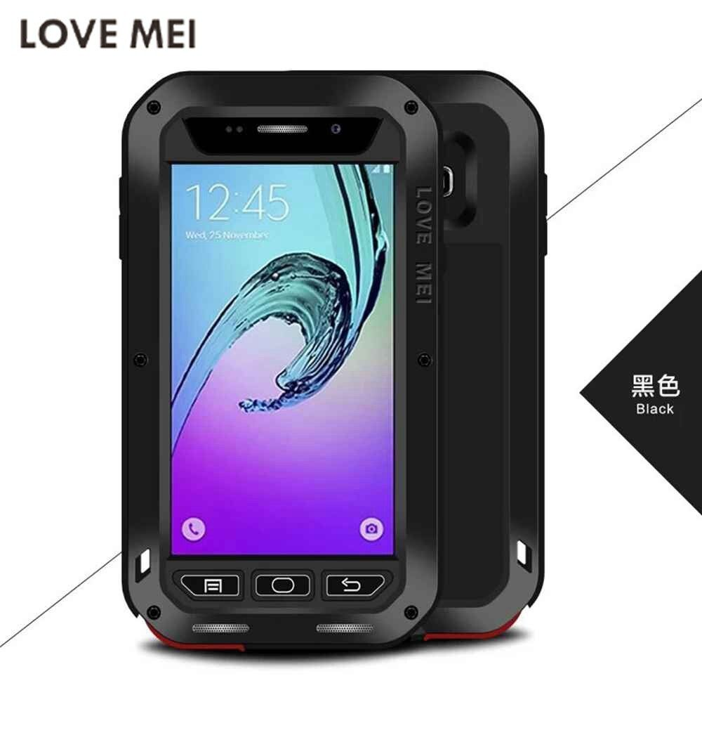 LOVE MEI Capa For Galaxy A3 A5 2017 Waterproof Powerful Metal+Silicone Case for SAMSUNG Galaxy Note 8 A3 A310 A5 A500 A7 S7 S8