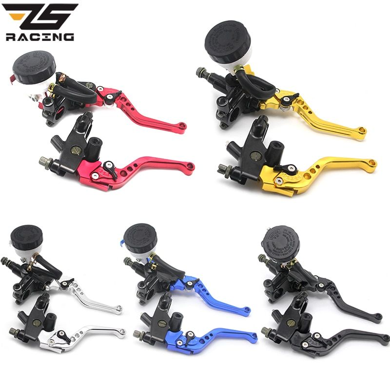 ZS Racing Universal CNC 22mm Motorcycle <font><b>Brake</b></font> Clutch Levers Master Cylinder Reservoir Set For Honda Suzuki Kawasaki Yamaha D10
