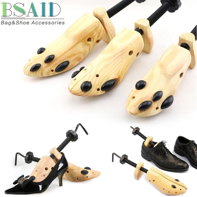 BSAID 1 Piece Shoe Stretcher Wooden Shoes Tree Shaper Rack,Wood Adjustable Flats Pumps Boots Expander Trees Size S/M/L Man Women