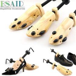 Bsaid 1 unidades camilla de madera Zapatos talladora árbol rack, ajustable de madera pisos Bombas Botas expander Árboles tamaño S/M/l Hombre mujeres