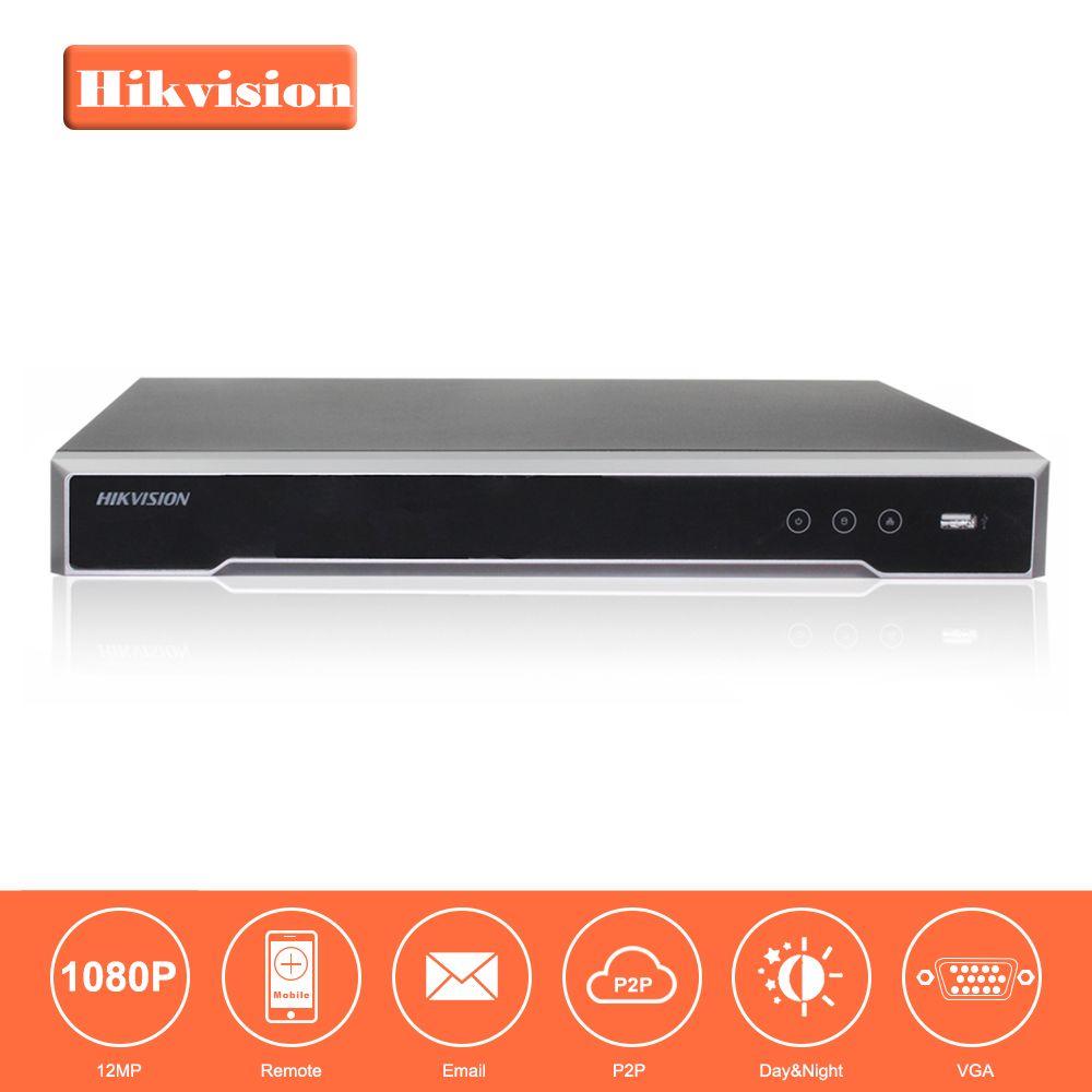 Original HIKVISION H.265 4 Karat NVR 16CH DS-7616NI-I2/16 P Professionelle POE NVR für Cctv-kamera-system HDMI VGA Plug & Play NVR