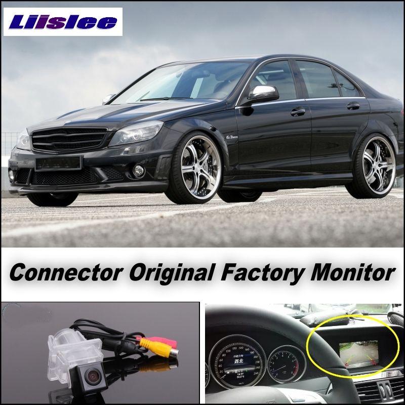 Pour Mercedes Benz Classe C MO W204 Camera Connect D'origine Usine Écran/Moniteur LiisLee Haute Qualité Vue Arrière caméra de Recul