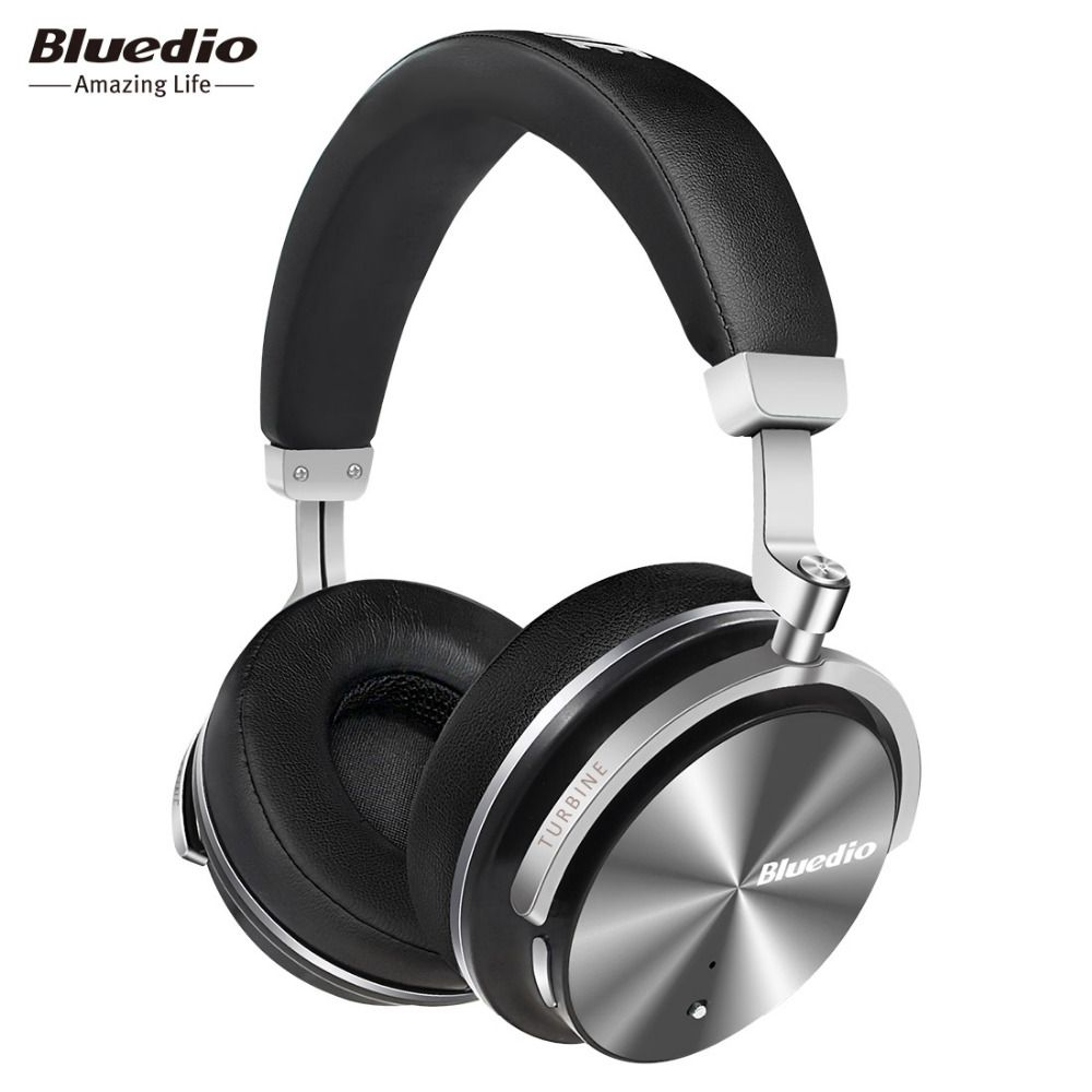 Original Bluedio T4S bluetooth headphones with microphone ANC active <font><b>noise</b></font> cancelling wireless headset