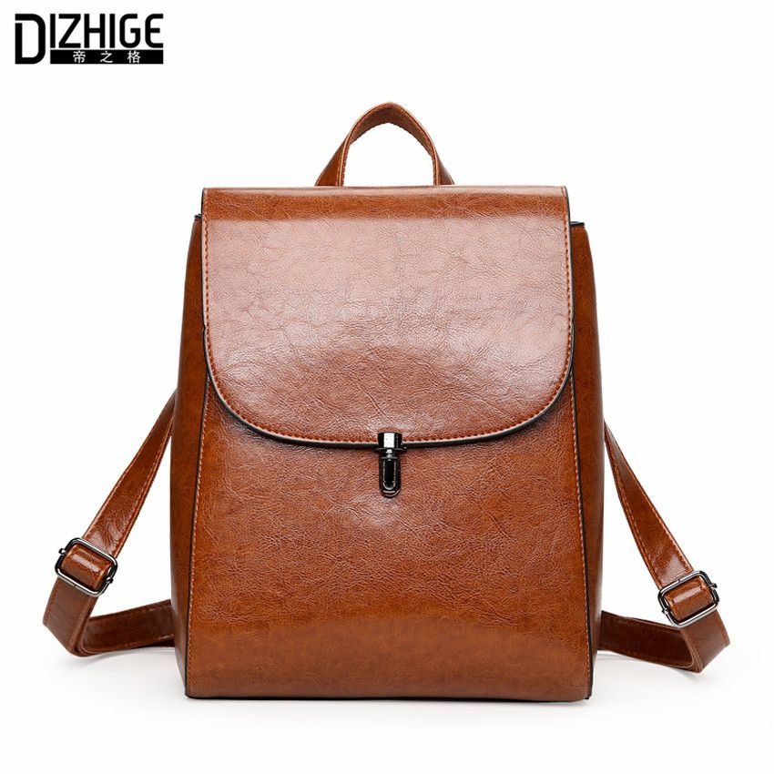 Fashion Woman Backpack 2018 Leather Brands Female Backpacks High Quality Schoolbag Backpack Elegant Mochilas Escolar Feminina